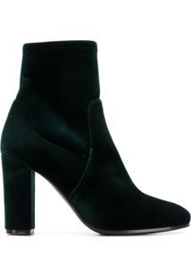 Via Roma 15 Velvet Ankle Boots - Green