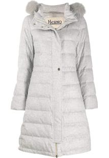 Herno Hooded Padded Coat - Cinza