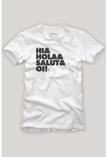 Camiseta Reserva Oi Poliglota Masculina - Masculino-Branco