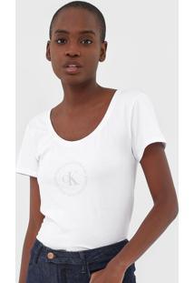 Camiseta Calvin Klein Jeans Logo Branca