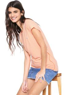 Camiseta Coca-Cola Jeans Listras Laranja - Laranja - Feminino - Dafiti