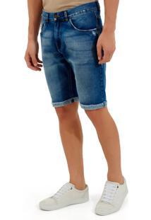 Bermuda John John Clássica Dubai Jeans Azul Masculina Be Classica Dubai-Jeans Medio-42