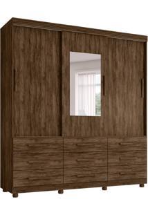 Guarda-Roupa Casal Com Espelho Ascoli 3 Pt 9 Gv Jacarandá