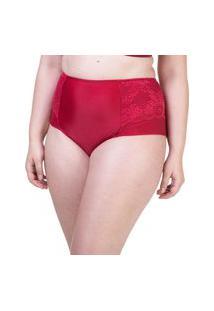 Calcinha Hot Pant Lateral Dupla Renda Cereja - 534.383 Marcyn Lingerie Alta Vermelho