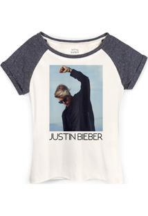 Camiseta Raglan Justin Bieber You Give Me Purpose - Feminino