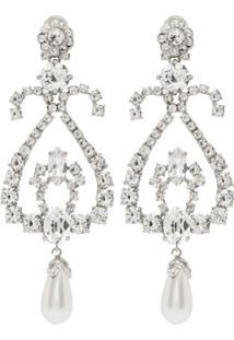 Miu Miu Crystal Earrings - Prateado