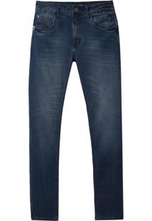 Calça John John Skinny Navarino Jeans Azul Masculina (Jeans Medio, 42)