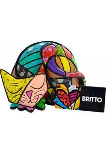 Escultura Romero Britto Gato Tin Resina Trevisan Concept