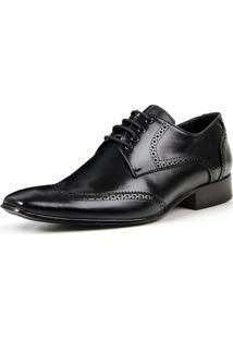 Sapato Social Bigioni De Amarrar Estilo Oxford Clássico Masculino - Masculino