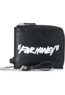 Off-White Carteira Com Estampa For Money - Preto