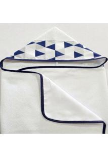 Toalha De Banho Revestida Com Capuz Losango Marinho - Azul Marinho - Menino - Dafiti