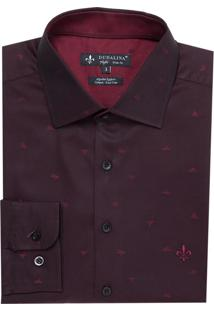 Camisa Ml Jacquard Fio Tinto (Vinho, 5)