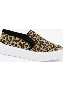 Tênis Feminino Slip On Estampa Animal Print Via Uno