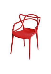 Cadeira Master Allegra Polipropileno Vermelha - 21398 Vermelho