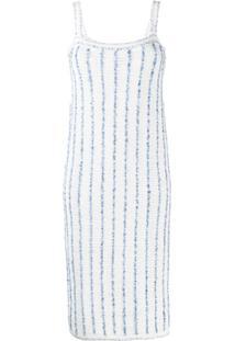 Thom Browne Vestido Midi Listrado 'Banker' - Azul