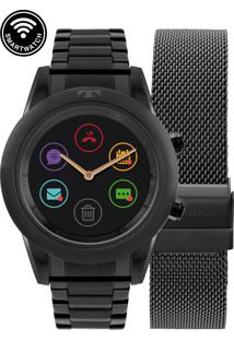 Relógio Technos Smartwatch Preto Redondo - P01Ad/4P