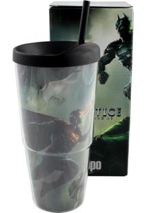 Caneca Injustice Batman X Superman Preto Zona Criativa