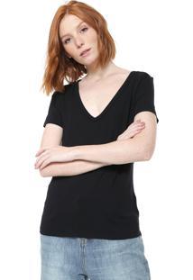 Camiseta Cavalera Básica Preta
