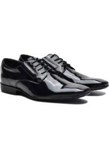 Sapato Social Couro Pórtice Verniz Masculino - Masculino