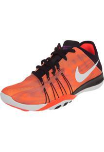 Tênis Nike Wmns Free Tr 6 Prt Laranja/Preto