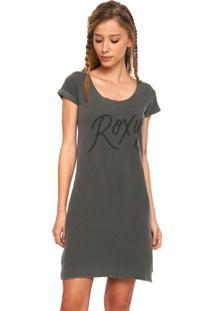 ... Vestido Roxy Curto Kissed Cinza 956946315ad0f