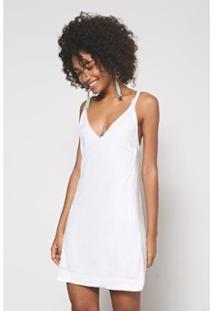 Vestido Paetê Furtacor Off Sand Oh, Boy! Feminino - Feminino-Off White