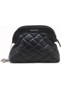 Bolsa Shoulder Bag Couro Matelassê Preta