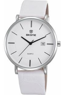 Relógio Skone Analógico 9307Bg - Feminino-Branco