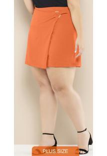 Shorts Saia Plus Size Laranja
