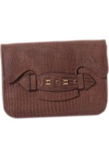 Clutch Monique Bruxel Lizzie Marrom