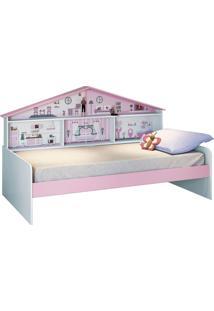 Cama Casa De Boneca Diversão Branca E Rosa Pura Magia