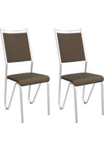 Kit 2 Cadeiras Londres C056 - Kappesberg - Marrom