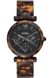 Relógio Fossil Carlie Feminino - Feminino-Marrom