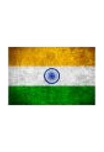 Painel Adesivo De Parede - Bandeira Índia - 1026Pnm