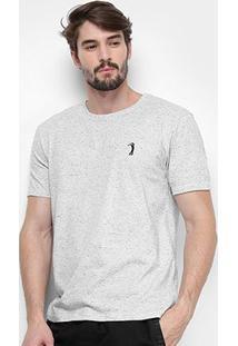 Camiseta Aleatory Estampada Masculina - Masculino-Cinza