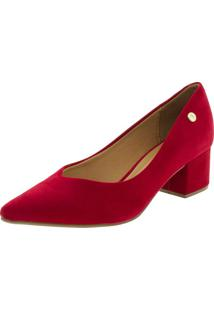 a11679e644 Clóvis Calçados. Sapato Feminino Salto Baixo Vizzano - 1220224 Vermelho