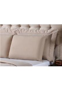 Fronha Para Travesseiro Plumasul Matelassê Soft Touch Em Poliéster/ Microfibra 50 X 150 Cm - Marrom