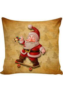 Capa De Almofada Papai Noel- Marrom & Vermelha- 48X4Stm Home