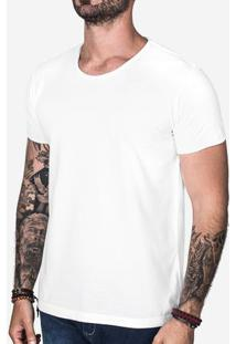 Camiseta Básica Off White Gola Rasgada 103026
