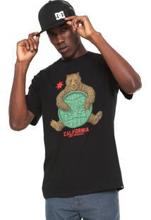 Camiseta Dc Shoes Bearly Legal Preta