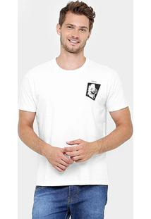 Camiseta Colcci Dino Skate - Masculino-Branco