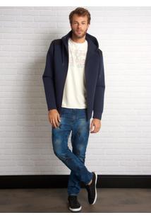Calça John John Rock Dunvegan 3D Jeans Azul Masculina (Jeans Medio, 42)