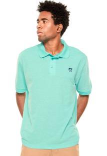 Camisa Polo Mr. Kitsch Logo Azul