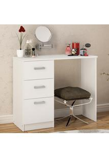Mesa Para Computador Modelo Palmas 3 Gavetas Branco Bp - Politorno