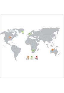 Adesivo De Parede Mapa Mundi Grudado Adesivos