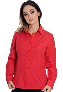 Camisa Pimenta Rosada Tiessa - Feminino-Vermelho