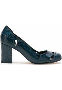 Sarah Chofakian Scarpin Bruxelas De Couro - Azul