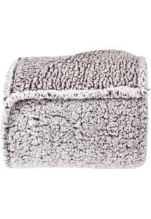 Cobertor Casal Everest Sherpa Pele De Carneiro Toque Extra Macio - Grafite