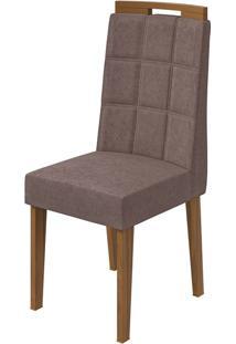 Cadeira Nevada Velvet Rosê Rovere Naturale