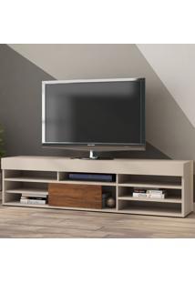 Rack Para Tv Até 55 Polegadas Celta 1 Porta Off White/Seda - Viero Móveis